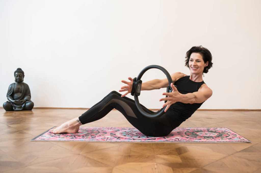 Half Rolldown PIlates Magic Circle